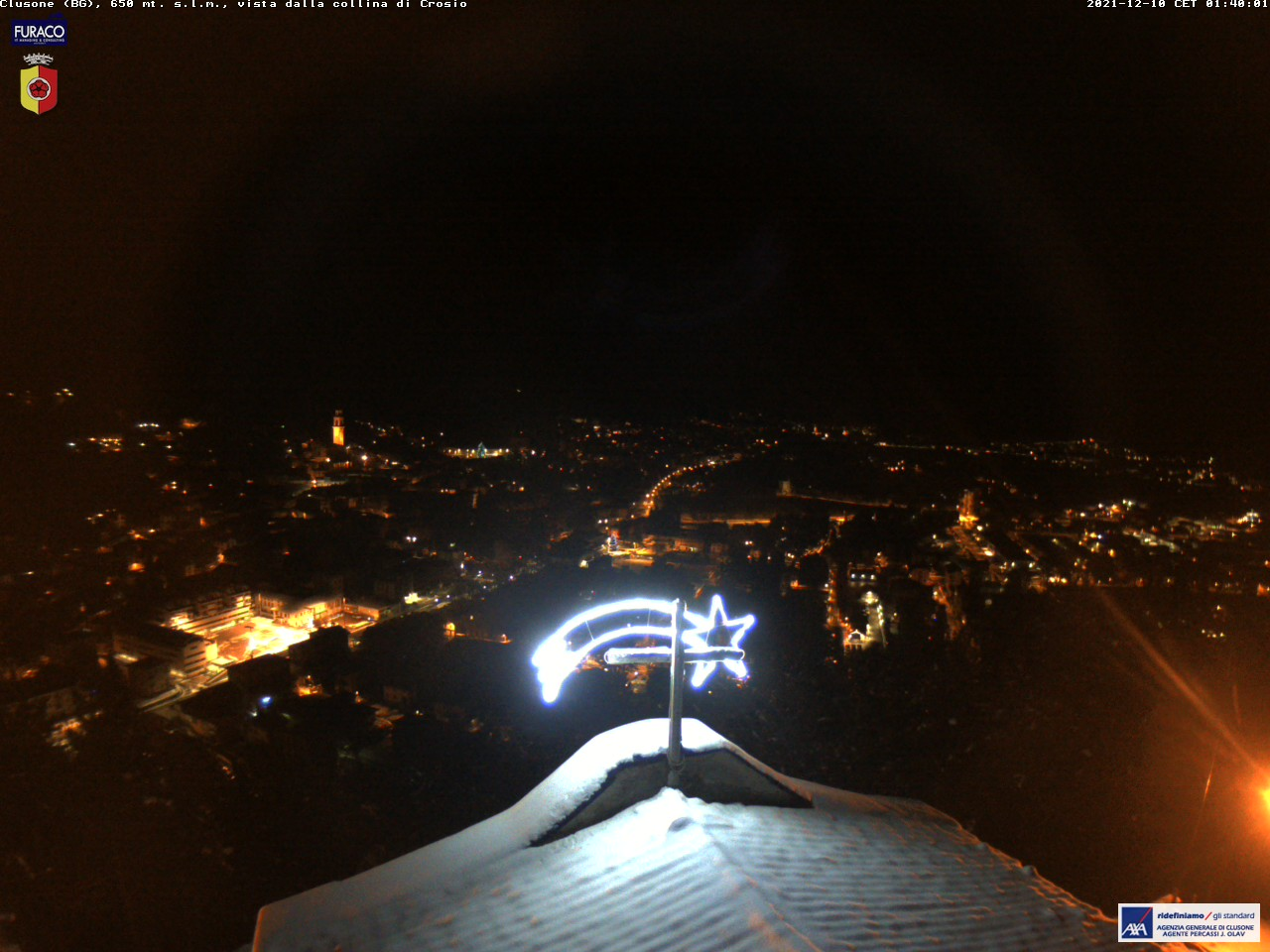 Webcam Vista panoramica di Clusone - Bergamo